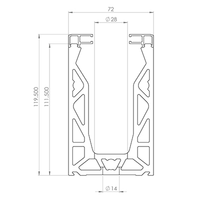 Frameless Glass Channel dimensions