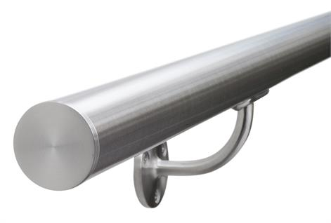 Stainless Steel Handrail c/w Plain Ends
