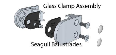 Duplex 2205 Ultra Marine Stainless Steel Glass Clamp